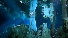Just wanted to share a brief overview of the magical underwater Trash the Dress in one of the mysterious cenotes in Riviera Maya.   Best Destination Wedding, Wedding Videography by Facundo Fernandez, AmorAmor Weddings Underwater Trash the Dress : Cenote Dos Ojos, Tulum, Riviera Maya, Mexico  If you want to check more : www.amoramorweddings.com