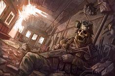 Fallout by on DeviantArt Arte Zombie, Zombie Art, Apocalypse World, Apocalypse Art, Anime Rock, Cthulhu, Dark Fantasy, Fantasy Art, Guerra Anime