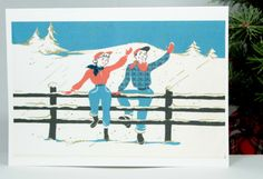 Christmas Card out at The Ranch by TheReimaginedPast on Etsy