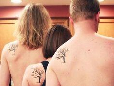 Tres tatuajes que puedes hacértelos con tu familia linda opción!