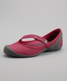 This Rider Sandals Dark Gray & Fuchsia Insight II Mary Jane - Women by Rider Sandals is perfect! Hippy Fashion, Mary Janes, Casual Shoes, Insight, Take That, Footwear, Gray, Sandals, Stylish