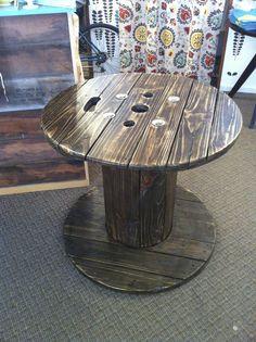 Reclaimed Spool Table   https://www.etsy.com/listing/157381035/spool-table?ref=v1_other_1
