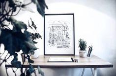 Göteborg 50 x 70 Nästa sista dagen med 20% rabatt, Länk i profilen! ✏️😁🍁 #sketch #sketching #göteborg #gothenburg #artist #illustrate #illustrator #art #artwork #print #doodle #architecture #sweden #målning #rita #teckning #måla #sketchbook #skiss #inredning #interior #interiör #grafiskdesign #graphic #graphicdesign