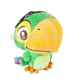 Original Jake and the Neverland Pirates Toys Plush Skully Parrot Birds Stuffed Animals Plush Toys for Children 14cm