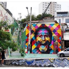 A new mural by Kobra @kobrastreetart in São Paulo Brazil.  @themuseumofurbanart #streetart #streetphotography #sprayart  #urbanart #urbanwalls #wallporn #graffitiigers #stencilart #art #graffiti #instagraffiti #instagood #artwork #mural #graffitiporn #photooftheday #stencil #streetartistry #stickerart #pasteup #instagraff #instagrafite #streetarteverywhere