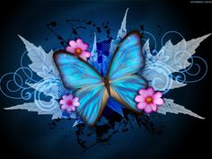 blue butterflies | Blue Butterfly - cynthia-selahblue (cynti19) Wallpaper (32913517 ...