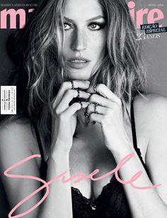 Gisele – sempre, sempre, sempre linda – na capa da Marie Claire de abril.