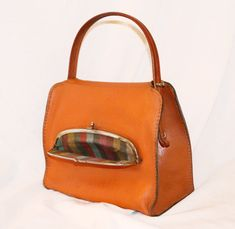 Spectacular Early COACH Bonnie Cashin Kisslock 1960s Doctor // Speedy Bag Orange from etsy