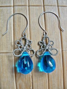 Tybetański Mnich: Żelki jelly beans, jewelry, wire wrapping, silver, earrings