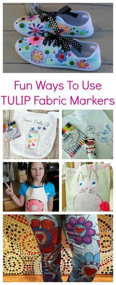 Fun Ways to Use TULIP Fabric Markers