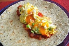 Healthy P90X Recipe - Breakfast Burritos! Enjoy... Please share if you like..helps me out. = )