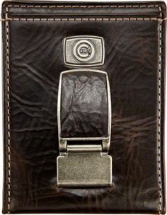 Chicago Cubs Front Pocket Wallet by Fossil - Brown One Size by Fossil. $32.99