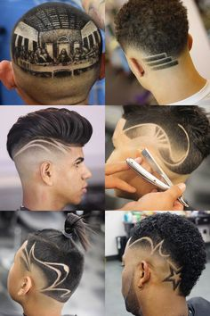Cool haircut designs for men offer a fun way to create a unique style. And because there are so many skilled barbers around the world, awesome new hair designs Haircut Designs For Men, Hair Designs For Boys, Cool Hair Designs, Cool Haircuts, Haircuts For Men, Curly Hair Men, Curly Hair Styles, Hair Tattoo Designs, Gents Hair Style