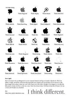 I think different | Appleの『Think Different』を文字通りロゴマークでやってみた : きよおと-KiYOTO