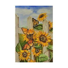 Trademark Fine Art 'Painted Ladies and Morning Glories' Canvas Art by Charlsie Kelly, Size: 22 x Green Canvas Art Prints, Painting Prints, Canvas Paintings, Painting Art, Watercolor Paintings, Art Themes, Woman Painting, Floral Prints, Art Floral