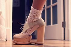 Jeffrey Campbell. love these with the socks!