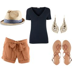 """""""Simple Summer Outfit"""" without the earrings or hat"""