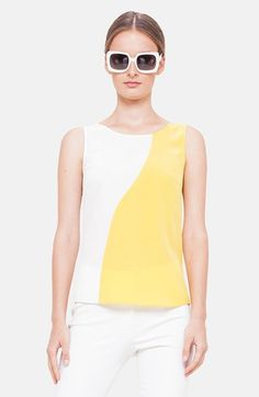 Akris punto Two-Tone Silk Tank available at #Nordstrom