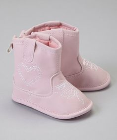 Take a look at this Rugged Bear Pink Heart Cowboy Boot on zulily today!