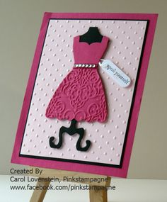 All Dressed Up-another cute idea for the fun dress framelits.