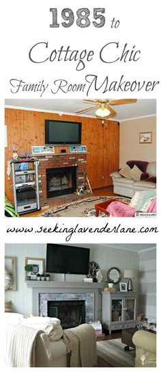 From 1985 to Cottage Chic Family Room