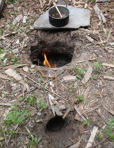Dakota fire hole for efficient cooking and minimal smoke signature  http://www.survivalistboards.com/showthread.php?t=66440