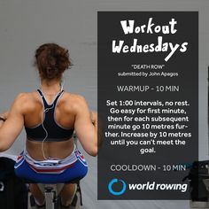 Try this indoor rowing workout with World Rowing. Rowing Workout, Indoor Rowing, Wednesday Workout, Workouts, Goals, Gym, Fitness, Body Sculpting Workouts, Exercise Workouts