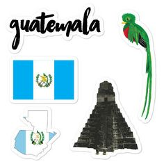 5 Separate Guatemala Stickers in a sheet! Don't forget to clean the surface before applying the sticker. Tikal, Guatemala Flag, Vegetable Coloring Pages, Homemade Stickers, Outline Art, Central America, Independence Day, I Am Awesome, Surfing