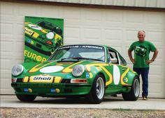 Throw Back Thursday Photo...Here is an old pick of a great customer and dear friend, Gib B. He is pictured with his Kremer 911 ST Tribute car, his original Nicolas Hunziker painting, Hunziker Clark Shoes and the Hunziker Apparel 911 ST shirt, currently available at shophunziker.com.  #porsche #911 #kremer #nicolashunziker #rgruppe