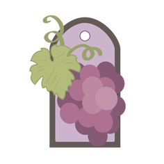 Free SVG File – Sure Cuts A Lot – 07.07.12 – Elegant Grapes Gift Tag