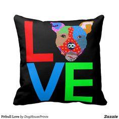 Pitbull Love Pillow