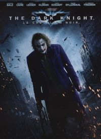 """The second part of director Christopher Nolan's series finds Batman (Christian Bale) facing a new challenge from a criminal mastermind calling himself """"The Joker"""" (the late Heath Ledger in a posthumously awarded Oscar role).  Besides the returning cast of Michael Caine, Gary Oldman, and Morgan Freeman, the film also stars Aaron Eckhart and Maggie Gyllenhaal."""