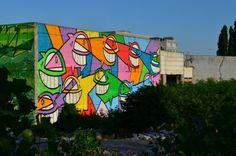 Pristavna building – There´s graffiti in the city ( by Marina Popjakova ) Bratislava, Graffiti, Neon Signs, City, Homework, Building, Buildings, Cities, Construction