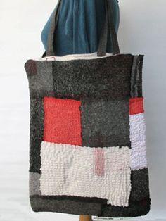 nuno felted tote bag