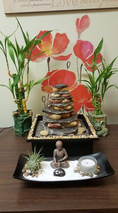 Air plants are easy to take care of just a little water and sunlight no soil just air and water. I can personalize your terrarium. They come in several different sizes and shapes. I& be posting some new terrariums soon. Balinese Bathroom, Terrarium For Sale, Asian Room, Mini Zen Garden, Meditation Gifts, Buddha Zen, Puja Room, Repurposed Wood, Concrete Planters