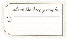 FREE Wedding Printables: Decor Tags