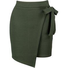 Boohoo Lizbeth Asymetric Wrap Tie Mini Skirt | Boohoo ($16) ❤ liked on Polyvore featuring skirts, mini skirts, short wrap skirt, wrap skirt, mid calf skirts, holiday skirts and mini skirt