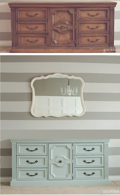 before & after dresser transformation