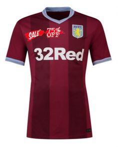 9dfffaf57d6 2018-19 Cheap Jersey Aston Villa Home Replica Red Shirt [CFC723] Soccer  Shirts