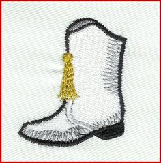 drill team boot embroidery design   Drill Team Boot