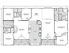 modular home floor plans 4 bedrooms | bedroom floor plan: b-6594