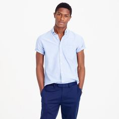 Shop the Short-sleeve oxford shirt at J.Crew and see the entire selection of Men's Shirts. American Guy, Vintage Shorts, Mens Suits, What To Wear, Men Casual, Menswear, Mens Fashion, Oxfords, Mens Tops