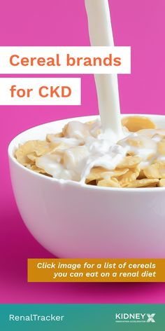Picking the right cereal for your renal diet can be confusing since there are so many brands you can choose from. Click the image for a list of cereals that can fit in your diet restrictions.