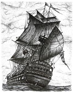 *Sailing Drawing  - Sailing Fine Art Print