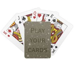 Gold Sparkles Custom Playing Cards - home gifts ideas decor special unique custom individual customized individualized