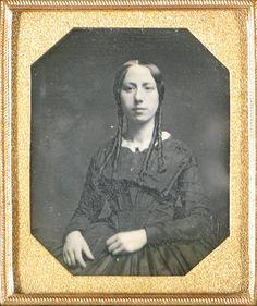 Daguerreotype of Unknown Lady with long Ringlets, 1840s