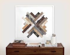 Kristina Krogh Herringbone Fusion Print Framed Solid OAK | eBay