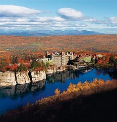 Mohonk Mountain House - A Victorian castle built on spectacular cliffs above the deep-blue waters of Lake Mohonk in 1869,  A grand 259-room hotel in the heart of upstate New York's scenic Hudson Valley, #hudsonvalley #marketing
