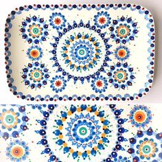 Bonbons schaaltje. Dot Art Painting, Mandala Painting, Pottery Painting, Ceramic Painting, Mandala Dots, Mandala Design, Point Paint, Stippling Art, Birthday Plate