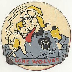"Check out the deal on Leather Photo Squadron, Photo Group Air Force ""Lone Wolves"" Disney Design Patch at Flying Tiger Antiques Online Store Army Patches, Cool Patches, Nose Art, Cat Patch, Earl Moran, Disney Designs, Vintage Patches, Photo Grouping, Pin Up"